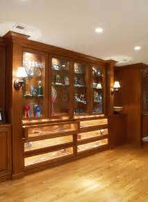 Built In Display Cabinet Ideas Kick Off The Nfl Season With A Man Cave