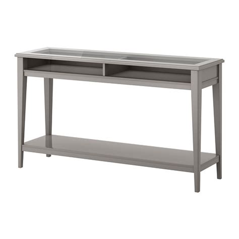Liatorp Sofa Table Gray Glass Ikea