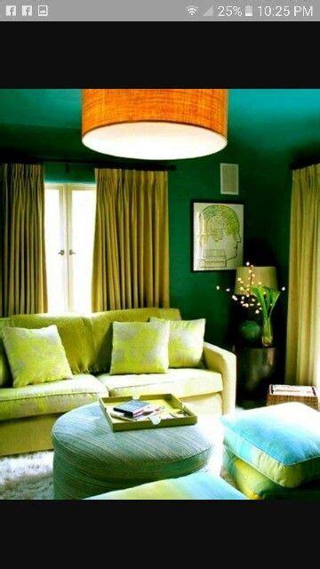 split complementary color scheme living room green