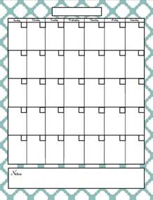 Free In Calendar Free Fill In Blank Calendar Printables Search Results