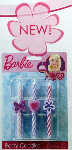 themed birthday candles barbie themed birthday candles