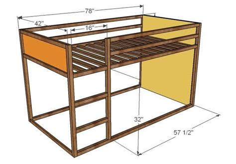 diy ikea loft bed ana white build a how to build a fort bed free and