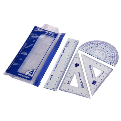 Square Set 4pcs 1pack students drawing g 6316 school supplies set square ruler protractor four sets free
