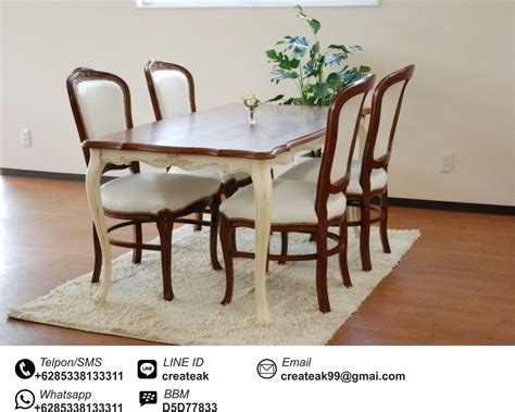 Kursi Warung Makan set kursi makan ukir cantik createak furniture