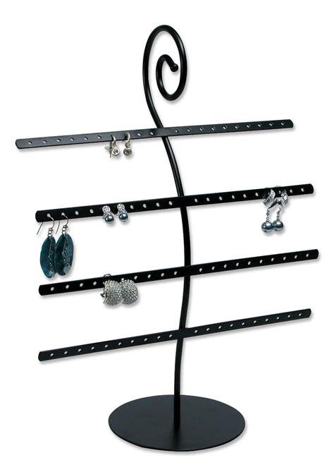 metal earring rack jewelry display holds 40 pairs