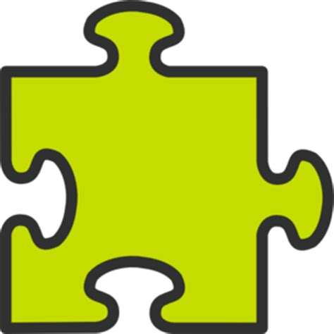 Puzzle L by Puzzle Green2 Clip At Clker Vector Clip