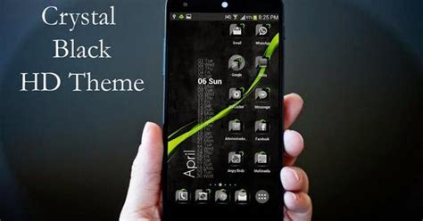 download themes for android mobile free theme crystal black flat hd apk v6 9 daily apk download