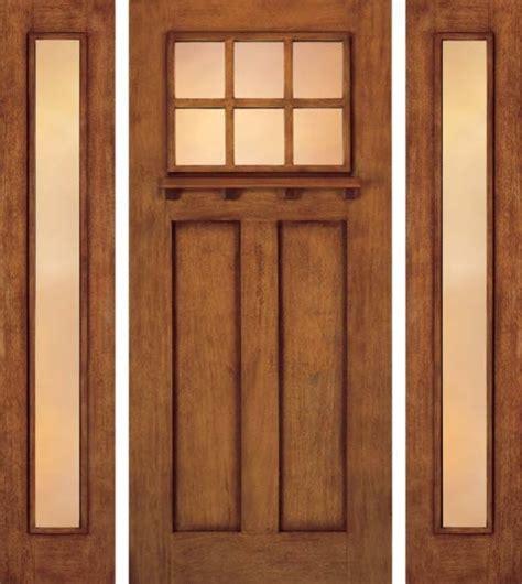 Craftsman Front Door With Sidelights Jeld Wen A362 Door And A1103 Sidelights Mahogany Woodgrain Craftsman Front Doors Ta