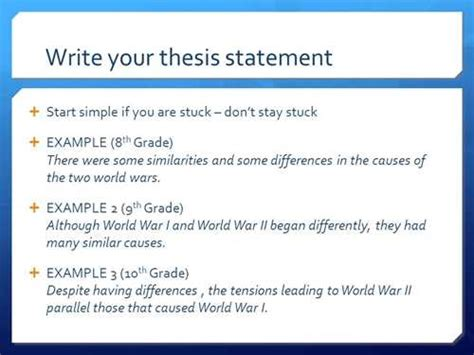How To Make Thesis Statement For A Research Paper - writing resources how to write thesis statements
