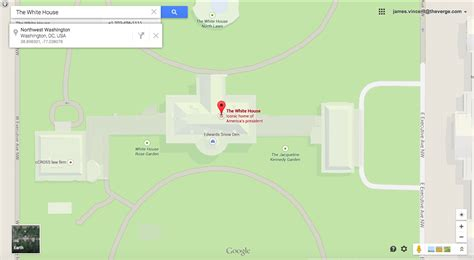 google maps white house an unlikely hack lands edward snowden in the white house the verge