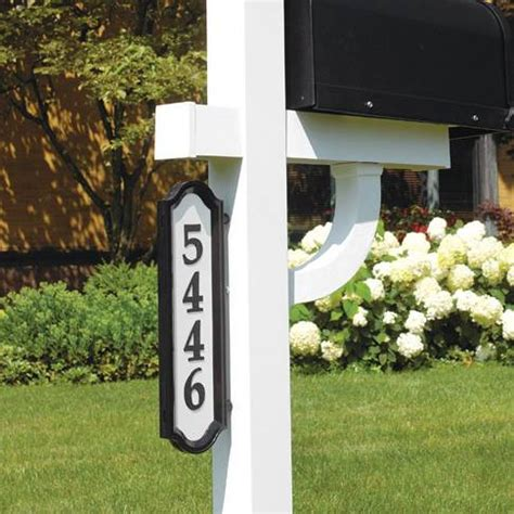hanging address plaques for l post whitehall products 14137 nite bright richfield home sign
