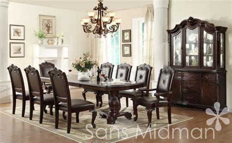 NEW! Kira 12 pc Formal Dining Set, Table w/2 leaves, 10 chairs, and Buffet/Hutch   eBay