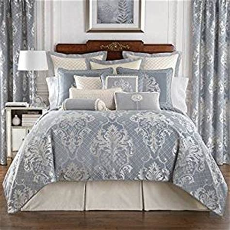 waterford comforter set com waterford blue newbridge damask 6 piece queen