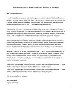 Sle Letter Of Recommendation For Of The Year by Sle Letter Of Recommendation For 8 Exles In Pdf Word