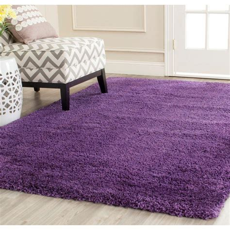 purple rug safavieh milan shag purple 8 ft x 10 ft area rug sg180