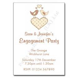 engagement invites birds engagement invitation personalised invitations
