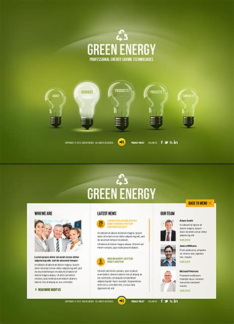 Green Energy Html5 Template Html5 Web Templates 300111457 Energy Drink Website Templates