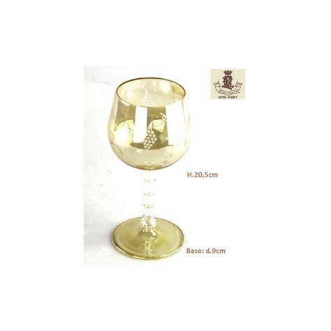 bicchieri in vetro soffiato bicchiere in vetro soffiato molato tralcio uva ambra royal