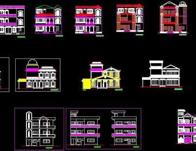 collection   house elevations  dwg