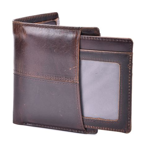 Dompet Notebook dompet kulit pria wax cowhide leather brown