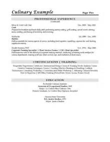 sous chef resume exle cover letter