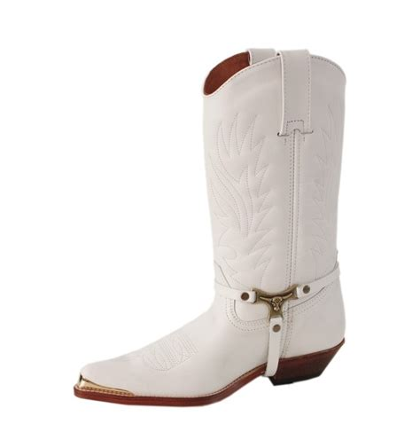 Handmade Mexican Boots - handmade cowboy boots made of white leather made to