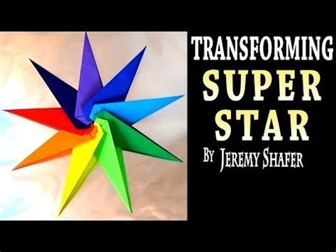 Origami Transforming Spiky - origami bright rotating out of paper