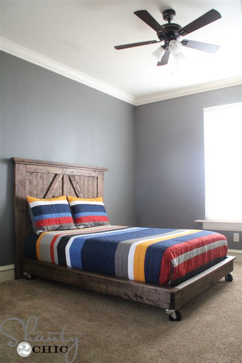 diy bed diy planked headboard shanty 2 chic