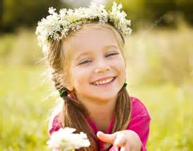 little girls little girl in wreath of flowers stock photo 169 tan4ikk