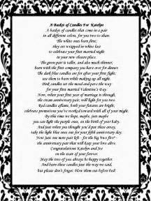 wedding shower poems for gifts bridal shower gift candle poem basket the family