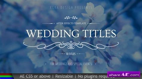Wedding 187 Free After Effects Templates After Effects Intro Template Shareae Wedding Title Templates After Effects