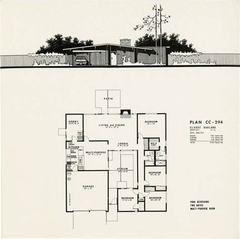 eichler homes floor plans plans for 4 model eichler homes in concord simspiriation