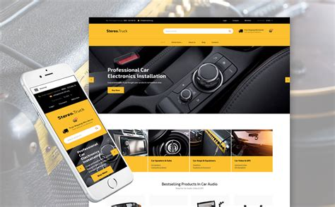 car audio responsive virtuemart template 62375