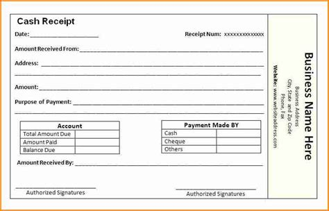 account receipt template 11 how to make a receipt for payment simple salary slip