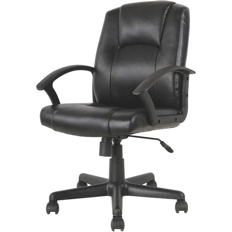 Mainstays Mid Back Office Chair by Mainstays Mid Back Leather Office Chair Black Walmart