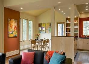 Kitchen And Dining Room Colors Painting Benjamin Spiced Pumpkin Accent Wall Painting Color Ideas For Contemporary