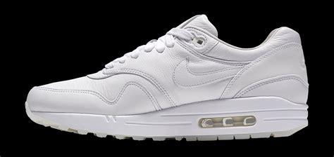 Nike Air Max 1 White Premium Quality nike air max 1 black white leather reflective