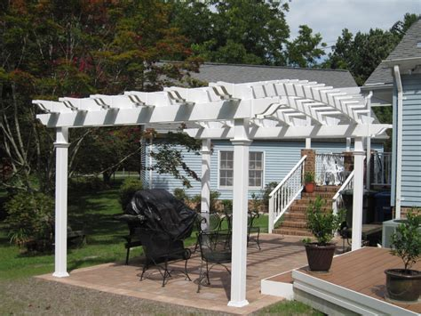 aspen arched vinyl pergola kit virginia