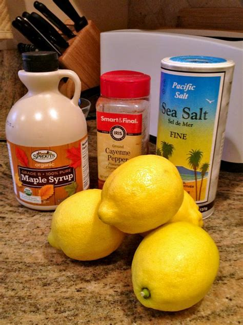 Salt Detox Diet by How To Master Cleanse Water With Lemon Smooth And Salts