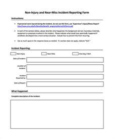 serious incident report template sle incident reporting form 9 free documents in pdf word