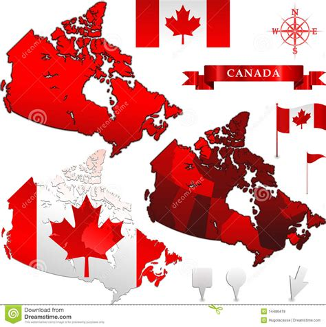 canada map vector free canada vector map and flag royalty free stock images