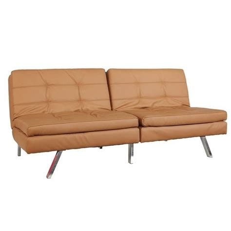 Gold Sparrow Furniture gold sparrow faux leather convertible sofa in camel adc mem csb pux