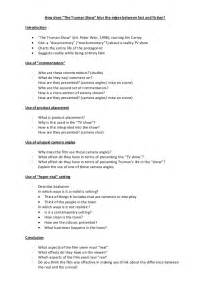 Critical Response Essay Format by The Truman Show Critical Response Essay Guide Bullet Boints