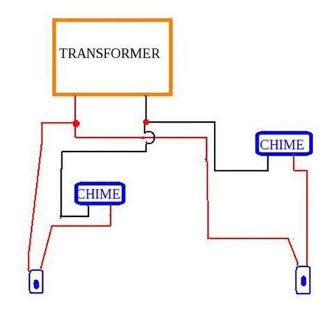 doorbell wiring diagram adding a 2nd doorbell chime and already 1 transformer doityourself community forums