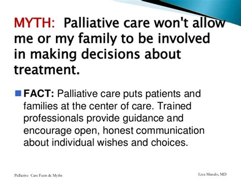 comfort measures in palliative care facts myths about palliative care