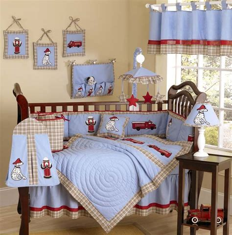 Jojo Designs Fire Truck 9pc Crib Bedding Set Baby Firetruck Crib Bedding