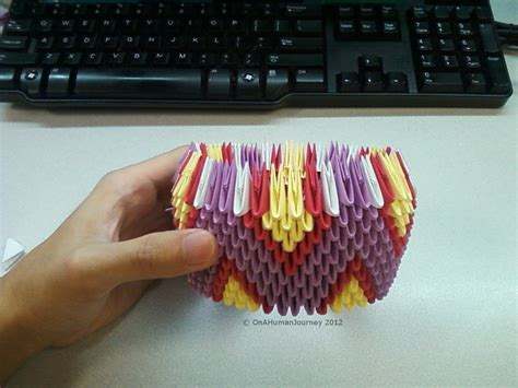 3d Origami Base - how to build a 3d origami vase onahumanjourney