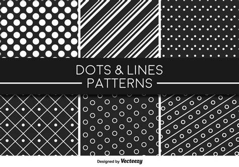 vector line pattern tutorial monochromatic lines and dots vector pattern download