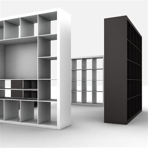 libreria 3ds bookcases ikea expedit 3d 3ds