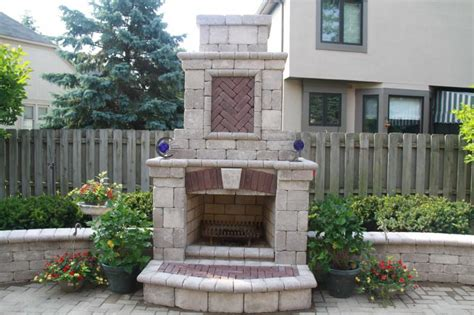 Pre Made Outdoor Fireplace by Gbr Masonry Inc Exterior Fireplaces